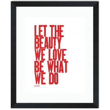 Let The Beauty Inspirational Art