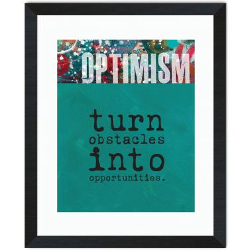 Optimism Obstacles Inspirational Art