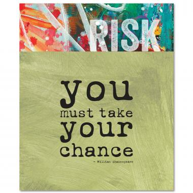 Risk Shakespeare Quote Inspirational Art