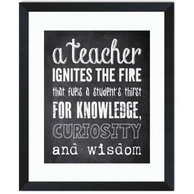 Teacher Chalkboard Inspirational Art