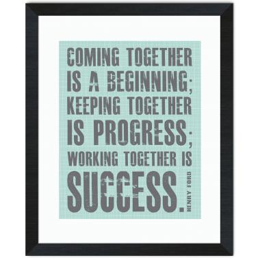 Working Together Inspirational Art