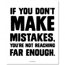 All Motivational Posters - Make Mistakes Inspirational Art