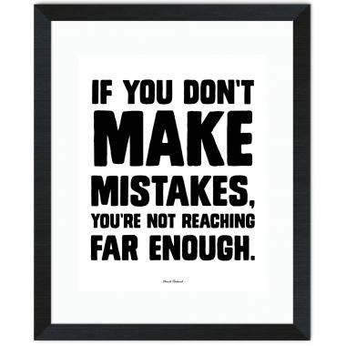 Make Mistakes Inspirational Art