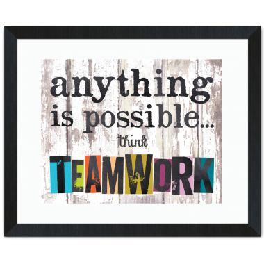 Think Teamwork Inspirational Art