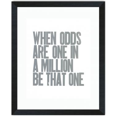 When Odds Are Inspirational Art