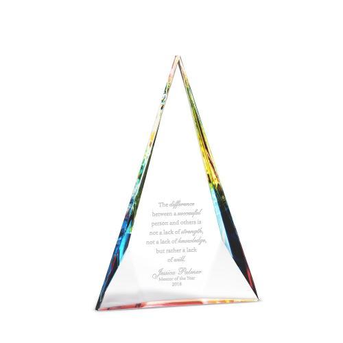 Tri Prism Crystal Award
