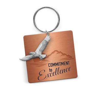 Commitment to Excellence Metal Keychain