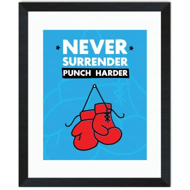 Never Surrender Inspirational Art