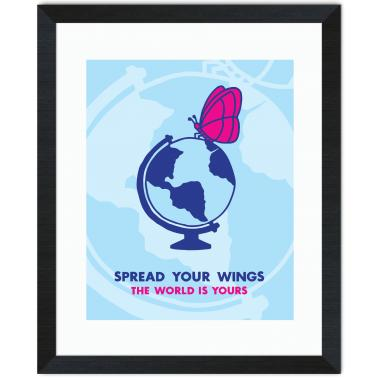 Spread Your Wings Inspirational Art