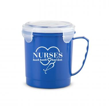 Nurses Touch Hearts 24oz Food Container Mug