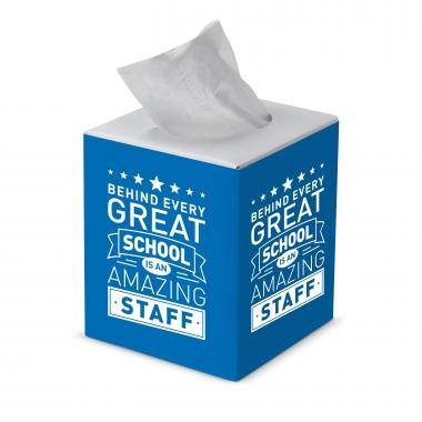 Behind Every Great School Cube Tissue Box