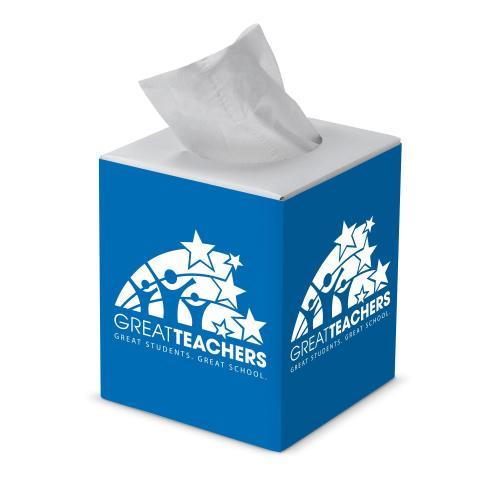 Great Teachers Cube Tissue Box