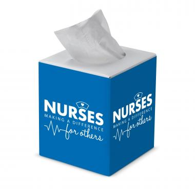 Nurses Making a Difference Cube Tissue Box