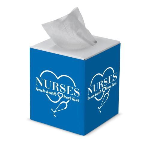 Nurses Touch Hearts Cube Tissue Box