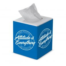 Staff Appreciation - Safety is Our Business Cube Tissue Box