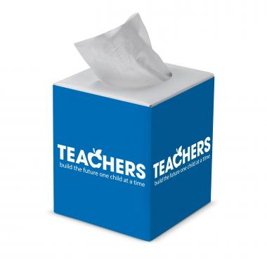 Teachers Build Futures Cube Tissue Box