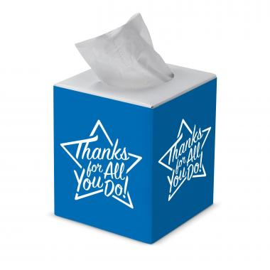Thanks for All You Do Cube Tissue Box