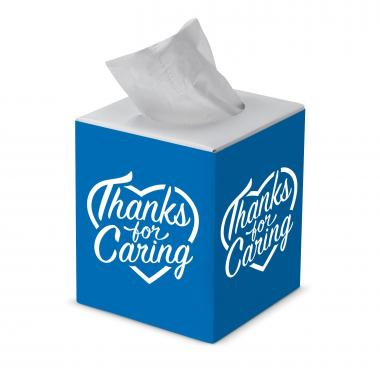 Thanks for Caring Cube Tissue Box