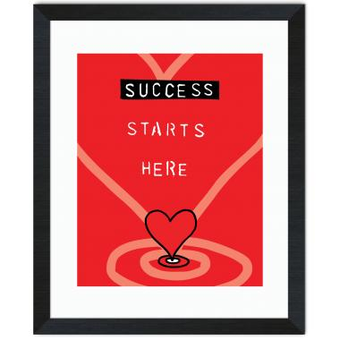 Success Starts Here Inspirational Art