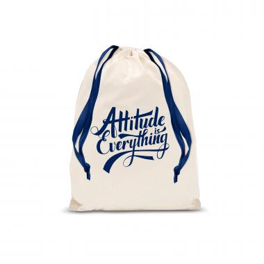 Attitude is Everything Small Drawstring Gift Bag