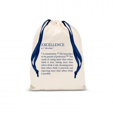 Excellence Definition Small Drawstring Gift Bag