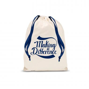 Making a Difference Small Drawstring Gift Bag