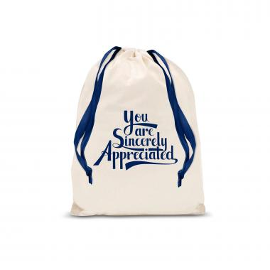 Sincerely Appreciated Small Drawstring Gift Bag