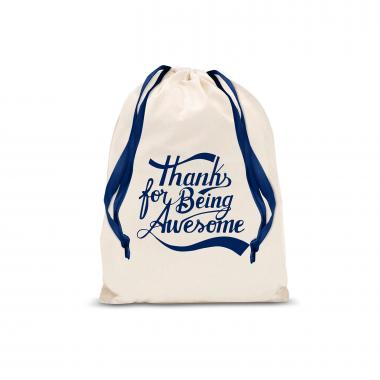 Thanks for Being Awesome Small Drawstring Gift Bag