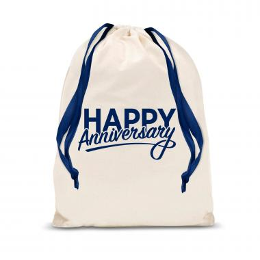 Happy Anniversary Small Drawstring Gift Bag