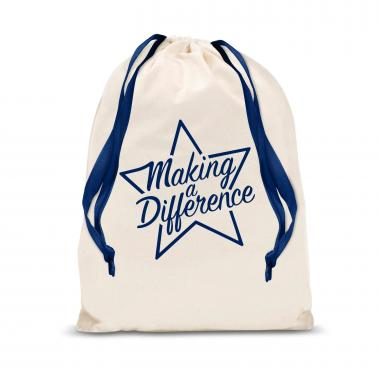 Making a Difference Star Small Drawstring Gift Bag