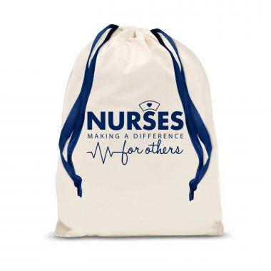 Nurses Making a Difference Small Drawstring Gift Bag