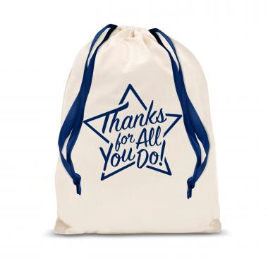Thanks for All You Do Star Small Drawstring Gift Bag