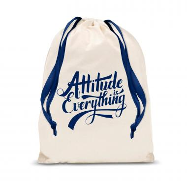 Attitude is Everything Large Drawstring Gift Bag