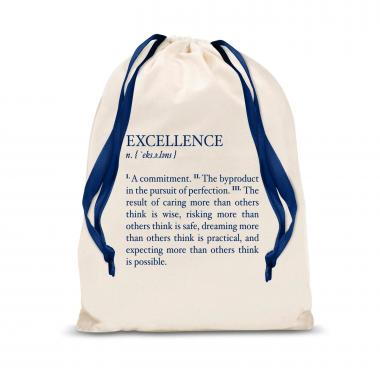 Excellence Definition Large Drawstring Gift Bag