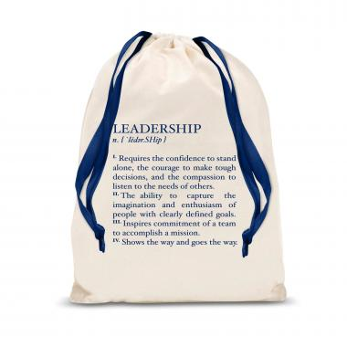 Leadership Definition Large Drawstring Gift Bag