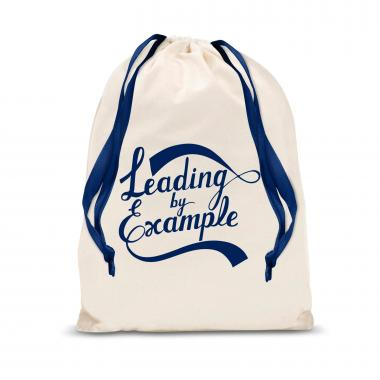 Leading by Example Large Drawstring Gift Bag