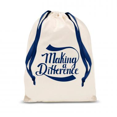 Making a Difference Large Drawstring Gift Bag