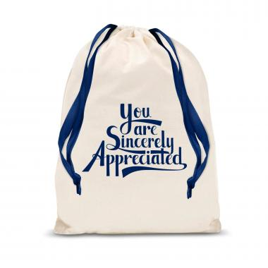 Sincerely Appreciated Large Drawstring Gift Bag