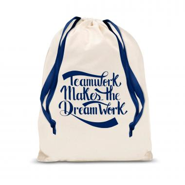 Teamwork Dream Work Large Drawstring Gift Bag