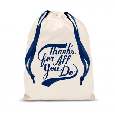 Thanks for All You Do Star Large Drawstring Gift Bag