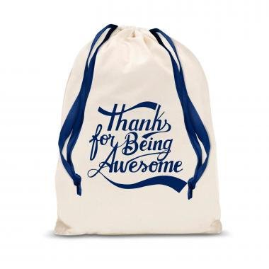 Thanks for Being Awesome Large Drawstring Gift Bag