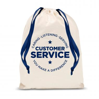 Customer Service Large Drawstring Gift Bag