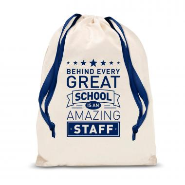 Behind Every Great School Large Drawstring Gift Bag