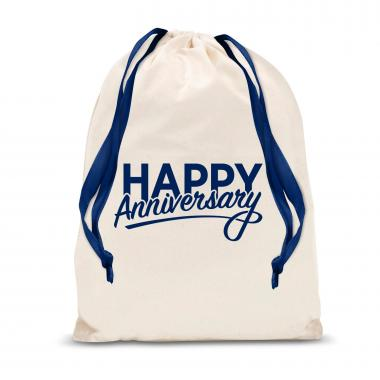 Happy Anniversary Large Drawstring Gift Bag