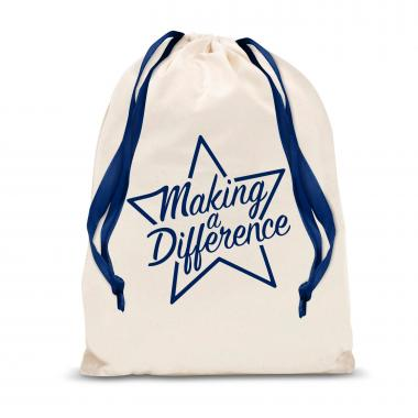 Making a Difference Star Large Drawstring Gift Bag