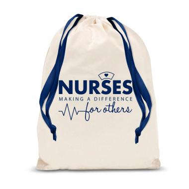 Nurses Making a Difference Large Drawstring Gift Bag