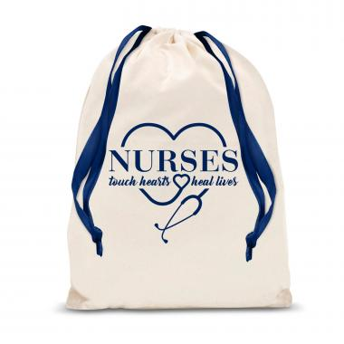 Nurses Touch Lives Large Drawstring Gift Bag