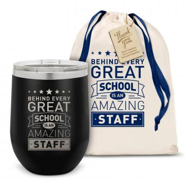 Behind Every Great School Stainless Steel Stemless Wine Glass