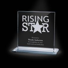 Glass Trophies - Sahara Starfire Crystal Award