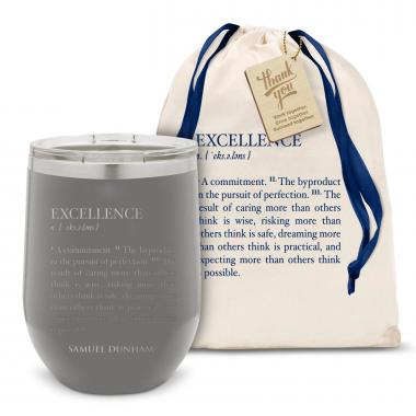 Excellence Definition Stainless Steel Stemless Wine Glass